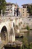 Bridge across the Tiber stock photography
