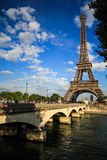 A bridge across to the Eifel tower Stock Image