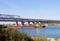 Bridge across Volga Royalty Free Stock Photo