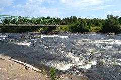 Bridge across Vuoksi river Stock Photography