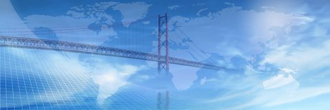 Bridge across the World... Stock Image