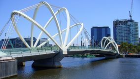 Bridge. Across yarra river in Melbourne, Australia is a landmark royalty free stock photography