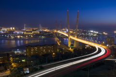 Bridge across the Zolotoy Rog bay, Vladivostok Stock Photos