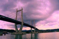 Sky,good day,Bridge. Afternoon sky good sea and bridge royalty free stock photo
