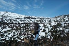 Bridge on Alaska's White Pass and Yukon Route Railroad Royalty Free Stock Images