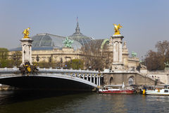 Bridge Alexander III. Paris, France. Royalty Free Stock Photography