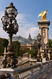 Bridge Alexander III in Paris Royalty Free Stock Images