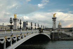 The bridge of Alexander the third in Paris Stock Photo