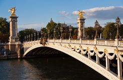 Bridge of Alexandre III Stock Photo