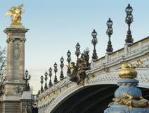 The bridge of Alexandre III. royalty free stock photo