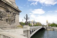 Bridge Alexandre III Royalty Free Stock Images