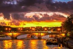 Bridge of Alexandre III, Paris, stock images
