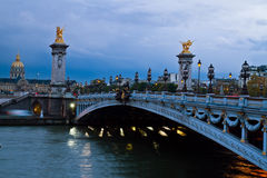 Bridge of Alexandre III,  Paris, France Royalty Free Stock Photos