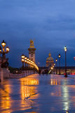 Bridge of Alexandre III ,  Paris, France Stock Photos