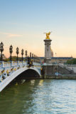 Bridge of Alexandre III in Paris, France Royalty Free Stock Photos
