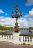 Bridge of Alexandre III in Paris Stock Image