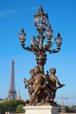 Bridge of Alexandre III in Paris Royalty Free Stock Photos