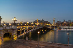 Bridge of the Alexandre III, Paris Stock Photography