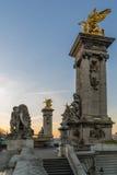 Bridge of the Alexandre III, Paris Royalty Free Stock Photo