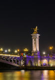 Bridge of the Alexandre III, Paris Royalty Free Stock Photos