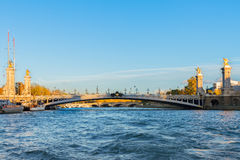 Bridge of Alexandre III in  Paris, France Royalty Free Stock Images