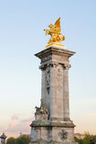 Bridge of Alexandre III pillar, Paris Royalty Free Stock Photos