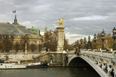 Bridge  Alexandre III. Stock Photos