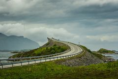 Bridge along the Atlantic road in Norway royalty free stock photos