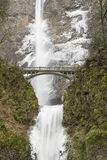 Bridge Along Hiking Trails at Multnomah Falls Royalty Free Stock Photography