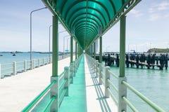 Bridge along the ocean. Stock Image