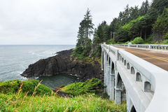 Bridge along the Pacific Ocean in Oregon royalty free stock photography