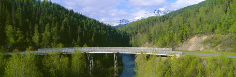 Bridge along Seward Highway Royalty Free Stock Image