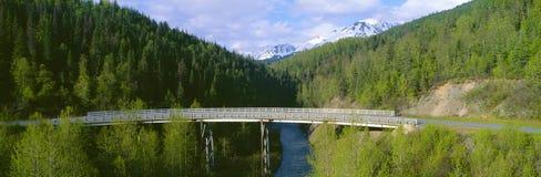 Bridge along Seward Highway. At Kenai Peninsula, Alaska Royalty Free Stock Image