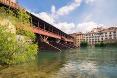 Bridge of the Alpini in Bassano del Grappa, Vicenza, Italy. Stock Photo