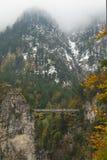 Bridge on alps Royalty Free Stock Images