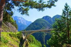 Bridge in the Alps Royalty Free Stock Photography