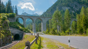 Bridge in the alps Stock Image