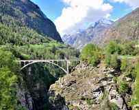 Bridge in the Alps Royalty Free Stock Photo