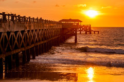 Bridge in amazing sunrise Royalty Free Stock Photo