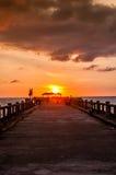Bridge in amazing sunrise Royalty Free Stock Images