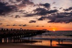 Bridge in amazing sunrise Royalty Free Stock Photography