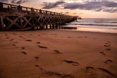 Bridge in amazing sunrise Stock Photography