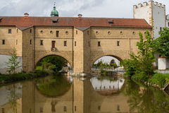 Bridge in Amberg Stock Photography