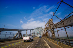 Bridge of the Americas across The Panama Canal Royalty Free Stock Images