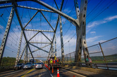 Bridge of the Americas across The Panama Canal Royalty Free Stock Photography