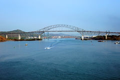 The bridge of the Americas bridge over Panama canal Royalty Free Stock Photo