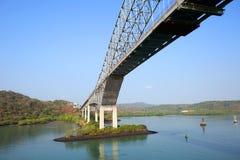 The bridge of the Americas bridge over Panama canal Royalty Free Stock Image