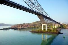 The bridge of the Americas bridge over Panama canal Stock Image