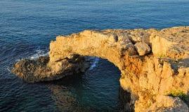 Bridge amorousness on the Mediterranean coast Stock Photo