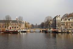 Bridge in Amsterdam royalty free stock photography